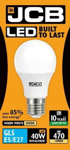 LED GLS Lightbulb 5W ES (household shape) Warm White (470 lumens) 807826